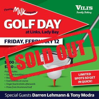 *** SOLD OUT ** We're thrilled to announce that our 2021 Golf Day has been sold out. Thanks to everyone that has signed up and booked a team. If you can please make payments by 25th January, it would be greatly appreciated.