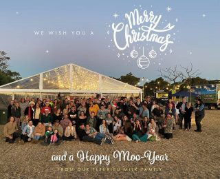 Merry Christmas from everyone at The Fleurieu Milk Company! Thank you for another fantastic year. Your support allows our Dairy Farmers to do what they love and with that support we're able to provide YOU with the best quality products possible.